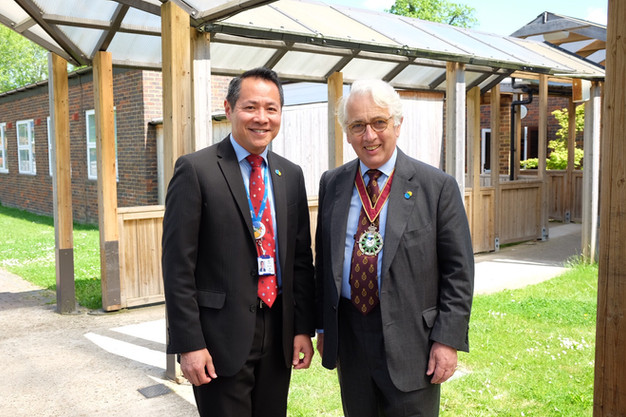 HS with Dalton Leong CE of the Children's Trust